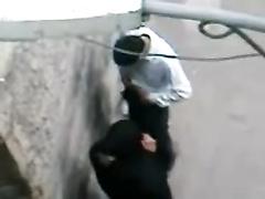 Arab hijab housewife caught whoring voyeur