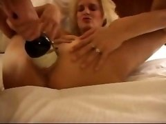 Banging Large Vibrators, Bottle & Double Fist
