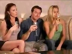 Super kewl swinger party starts right after a pair of wine glasses