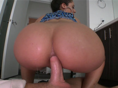 Alluring Latina with a sizeable tush wants some anal fun with her dude