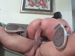 Bigtitted doll Gianna Michaels gets her hairy cum bucket boned hard