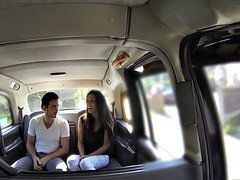 Fake Taxi tall Spanish beauty has an intercourse her bf in the back