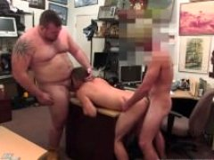 Emo gay pornography sex Man completes up with tush getting down and dirty orgy three-way