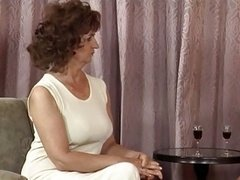 Granny in Stockings and plus Basque Has an intercourse
