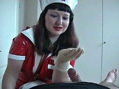 Rubber Glove Nurse Milking Fella