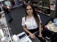 Sexy Latina Stewardess Is Desparate