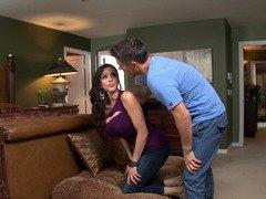 Cougar wife Ariella Ferrera fucked in her porn model tooshie