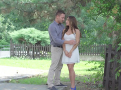 Attractive beauty meets with handsome boyfriend for passionate sex