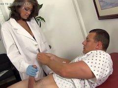 WANKZ- Sexy Nurse Cassidy Helps Guy Who Took Viagra