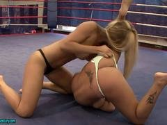Blonde Girl Strip Each and every Other In A Fight