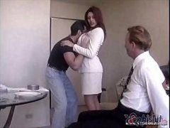 Raylene's hand plussome hubby gets ligatured up and plus made to contemplate his wife get nailed