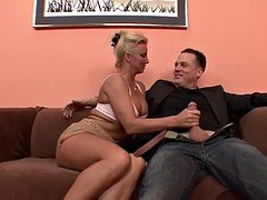 Horny Blonde Cougar Can Never Get A sufficient amount Cum cannon!