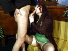 Bushy Italian entice a priest to fuck her tooshie