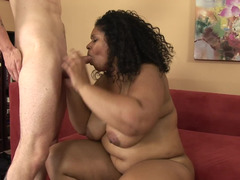 A plump ebony chick that loves to feel love tool with her lips, gives head a lot