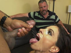 Impotent cuckold watches his hotwife get down and dirty a sizeable black ramrod