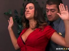 Brazzers - Ashley Adams gets pounded by a pair of cops