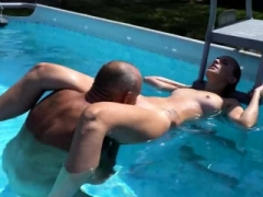 blonde sat on the step-father's fuck pole