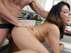 Busty Latina girl gets screwed by hung contractor
