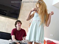 MY Very 1st TIME 1st timer Zoe Clark fucked and also facialed