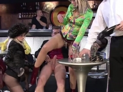 Hot hoes bliss some cum cannons in public