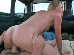 Sydney Cross performing deepthroat and additionally riding on big dick
