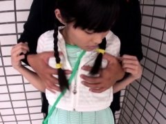 Innocent asian legal teens tush and snatch fingered