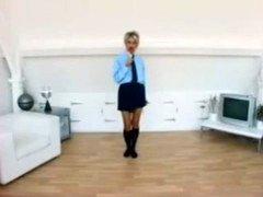 Jo Guest In School Uniform Strip