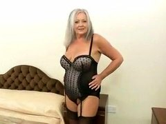 61 yr old granny shows absolutely all