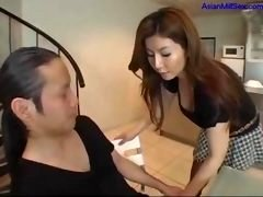 Sexually available mom Kissing With Guy While He Masturbating His Cock...
