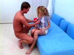 teen In Pigtails Gets Rectal Cream