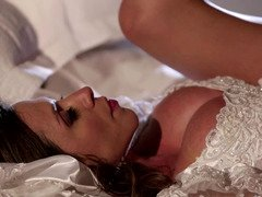 A hot bride is getting a dick in her meaty and juicy cunt