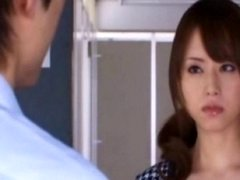 Akiho Yoshizawa innocent Chinese broad gets cum bucket licked