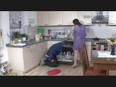 Excited Housewife Seduces Craftsman