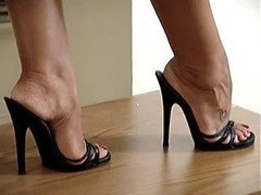 latin legs and besides feet in high heels