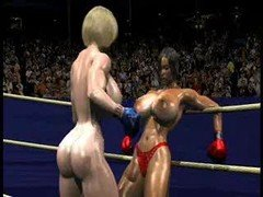 FPZ3D S vs G 3D Toon Fistfight Catfight Melons One-Sided