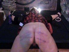 Slutty schoolgirl Antonia gets caned!