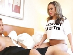 Latina Blonde Carmen Valentina Milks A Love tool With Her Feet!
