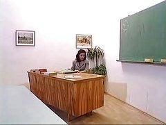 Grown-up Teacher With Mini Skirt F