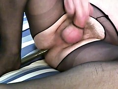 erotic reflections with crotchless pantyhose