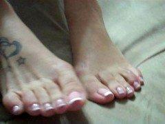 immature latina feet french pedicure