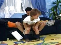 German midget gets fucked