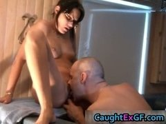 Charming face gf in glasses hardcore home part3
