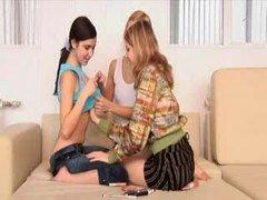 Three 18-19 year old Virgins Fingering Hol