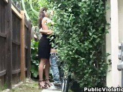 Hot rookie stripped and plus fucked outdoors