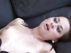 Czech college slut Ashley Woods gets pounded with a huge black cum cannon
