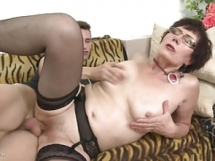 Excited mom Ryanne gets taboo sex with son