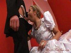 Gorgeous Bride Helen During Her Wedding Night