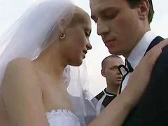 Bride Fucked Outdoors By Numerous Dude!