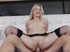 Hot pornstar begs for a celebrity creampie! Naughty America