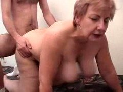 Overweight Grandma Having Fun With A Male Prostitute